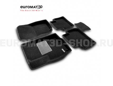 Текстильные 3D коврики Euromat3D Premium в салон для Citroen C-Crosser № EMPR3D-003609