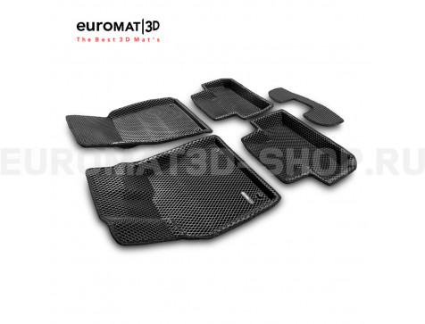 3D коврики Euromat3D EVA в салон для Audi Q5 (2008-2016) № EM3DEVA-001104